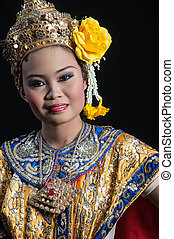 """""""khon"""", művészet, tánc, táncol, magas, thaiföld, osztály"""