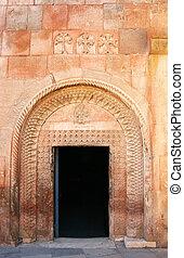 khor, virap, klášter, do, arménie