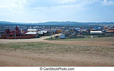Khuzhir settlement. Olkhon island, lake Baikal, Siberia,...
