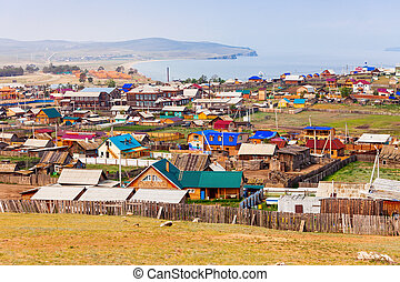 Khuzhir village, Olkhon island - Khuzhir village on Olkhon...