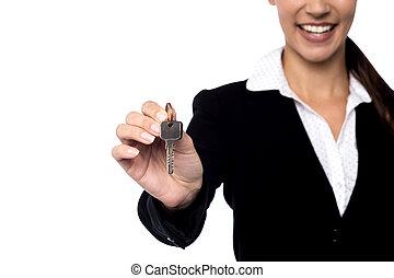 kiállítás, ingatlan, key., ügynök