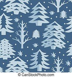 ki, elvág, pattern., seamless, karácsony