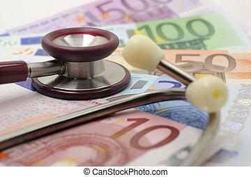 kiadások, orvosság, pénz
