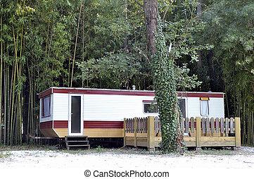 kiadó szobák, noha, a, camp-site