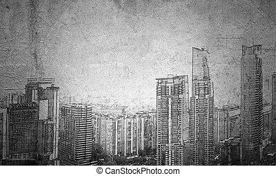 kialakulás, városi, terv