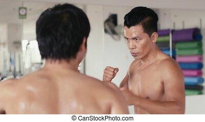 Kick boxing, martial arts, sport