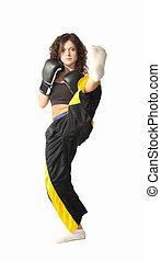 kick boxing - a kick boxing girl