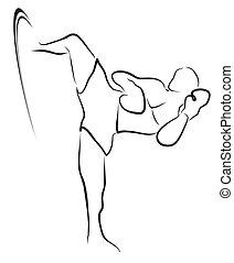 kick boxing symbol