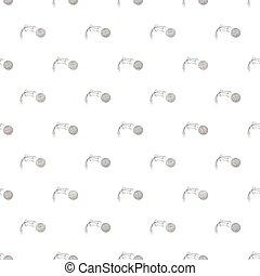 Kick of golf ball pattern, cartoon style