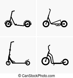 Kick scooters - Set of four kick scooters