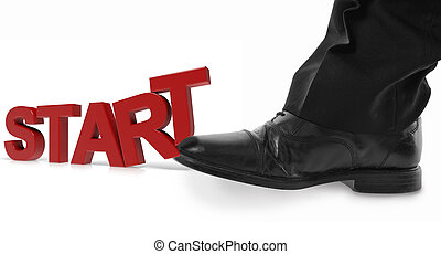 Kick start - concept of starting off with a kick