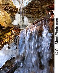 Kickapoo State Park - Illinois - A small waterfall of...