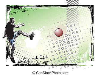 kickball poster 2 - illustration of the kickball player