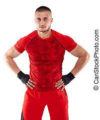 Kickbox fighter isolated