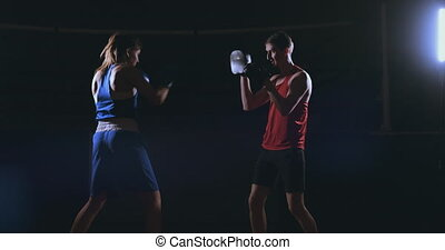 kickboxer woman athlete kickboxing coach training female...