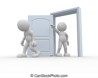 Kicked out door - 3d people icon kicked out the door - This...