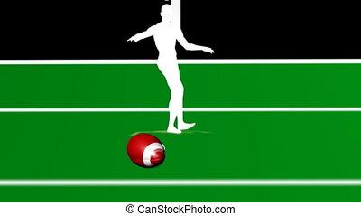 Kicking Field Goal - Kicking a field Goal in American...