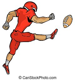 Kicking Football Player - An image of a kicking football...