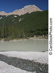 Yoho National Park - Kicking Horse River with muddy waters...