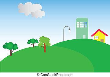 kicsi épület, képben látható, egy, hegy