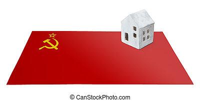 kicsi épület, lobogó, szovjetúnió, -