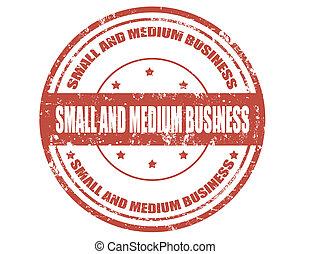 kicsi, business-stamp, közeg