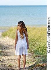 kicsi lány, óceán