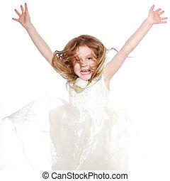 kicsi lány, boldog