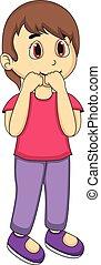 kicsi lány, karikatúra
