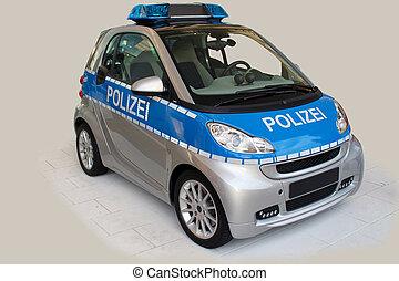 kicsi, rendőrség autó