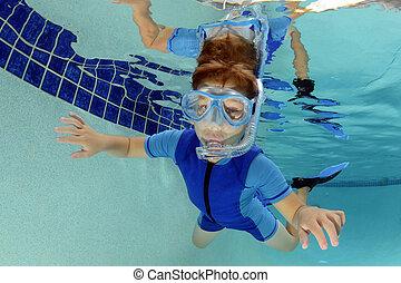 kid and pool recreation