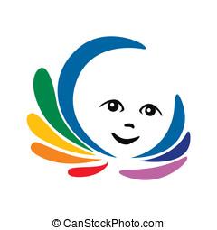Kid and the rainbow