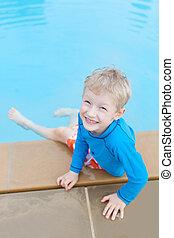 kid at the pool