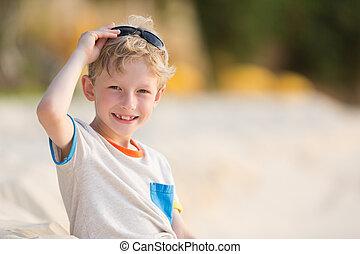 kid at vacation