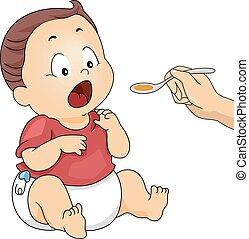 Kid Baby Boy Medicine Syrup