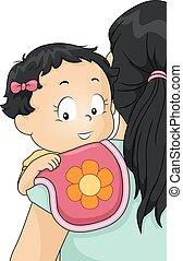 Kid Baby Girl Burp Cloth Mom