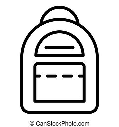 Kid backpack icon, outline style