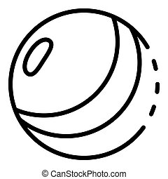 Kid ball icon, outline style