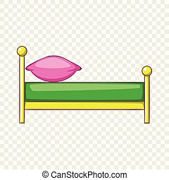 Kid bed icon, cartoon style icon, cartoon style