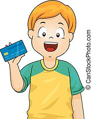 Kid Boy Atm Card Illustration
