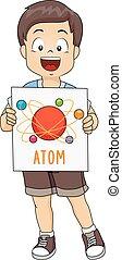 Kid Boy Atom Illustration