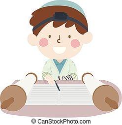 Kid Boy Bar Mitzvah Illustration