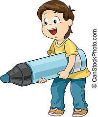 Kid Boy Big Marker
