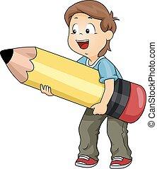 Kid Boy Big Pencil