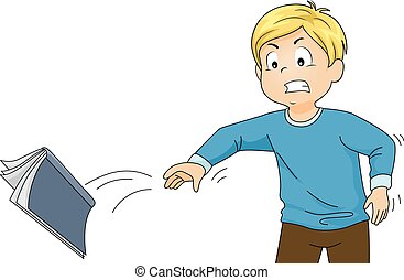 Kid Boy Book Throw