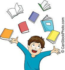 Kid Boy Books Happy