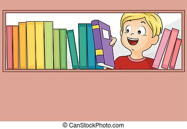 Kid Boy Books Library Selection