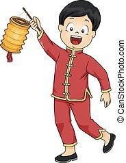 Kid Boy Chinese Lantern