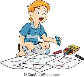 Kid Boy Constellation Draw