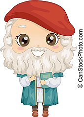 Kid Boy Costume Little Da Vinci Illustration